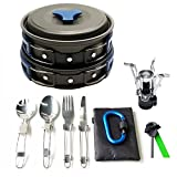 17Pcs Camping Cookware Mess Kit Backpacking Gear Review and Comparison