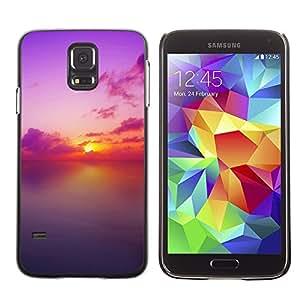 TopCaseStore / la caja del caucho duro de la cubierta de protección de la piel - Sunset Beautiful Nature 73 - Samsung Galaxy S5 SM-G900