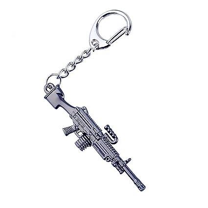 QZHE Llavero Arma Llaveros Modelo De Pistola Anillo De ...