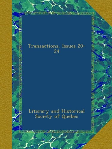 Transactions, Issues 20-24 PDF