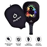 Pickleball Paddle - USAPA Approved Graphite Pickleball Racket with Graphite Carbon Fiber Face, Polypropylene Honeycomb Core Ultra Cushion, 4.5In Grip Lightweight Paddle 8OZ with Cover, Ideal for Beginners/Athlete/Outdoor/Indoor