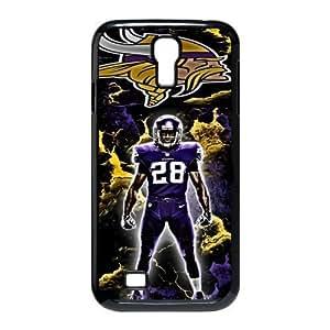 Tony Diy MINNESOTA VIKINGS NFL Classic Design Print Black case cover With case cover for SamSung Galaxy S4 EcBUqxYVkuJ I9500