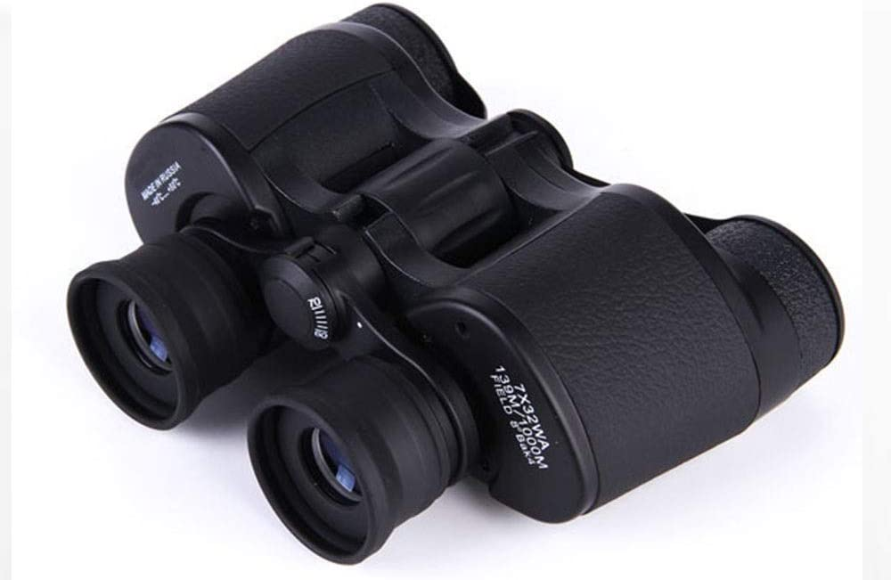 KONGZIR Monocular Binoculars Telescope Wide Angle and Night Vision FMC Multi Coating BAK4 for Fishing Camping//Hiking//Caving Bird Watching Black Waterpoof 7x32 Big Objective Lens Binoculars