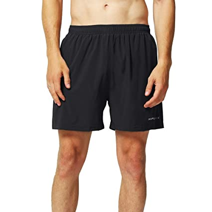 "27f365deea HIFUNK Men's Lightweight Workout 5"" Running Athletic Gym Shorts Fitness  Leisure Quick Dry Training Zipper"