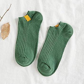 ... y Verano para Hombres portivos Calcetines a Rayas para Respirar Bajos para Ayudar a los portivos Invisibles, Verdes: Amazon.es: Deportes y aire libre