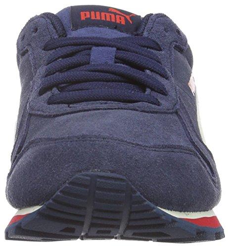 Puma St Runner Sd Jr Zapatillas de Deporte, Unisex Niños Azul (Blu-Wht-Cher 01Blu-Wht-Cher 01)