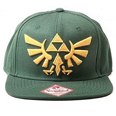 Zelda Baseball Cap Zelda Golden Logo Official Nintendo Green Snapback by Nintendo