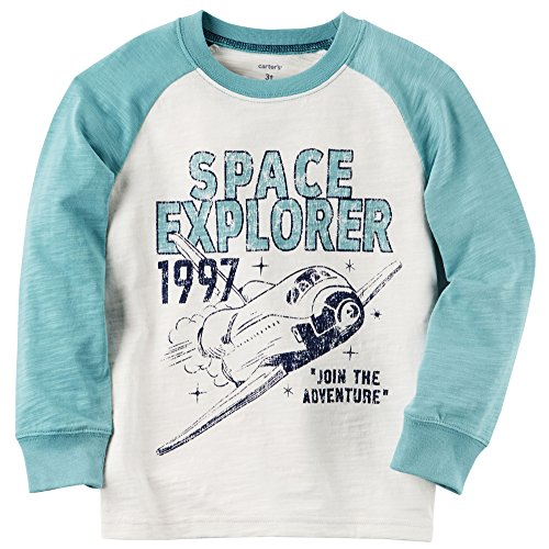 Carter's Baby Boys' Long Sleeve Space Explorer Raglan Tee 12 Months Carters Long Sleeve Raglan Tee