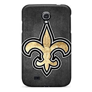 Protector Cell-phone Hard Covers For Galaxy S4 With Support Your Personal Customized Vivid New Orleans Saints Skin DustinFrench