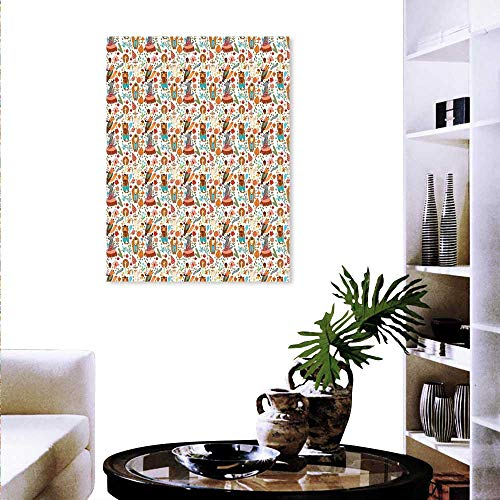 Colorful Fashion Stickers Wall Forest Animals Foliage Pattern Fox Wolf Snail Mosquito Cartoon Jungle Stickers Wall Home 32
