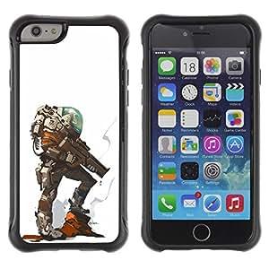 LASTONE PHONE CASE / Suave Silicona Caso Carcasa de Caucho Funda para Apple Iphone 6 PLUS 5.5 / alien planet futuristic character hero