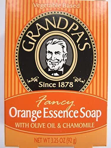 Grandpa's Orange Essence Bar Soap with Olive Oil and Chamomile, 3.25 Ounce by Cutting Edge International, LLC