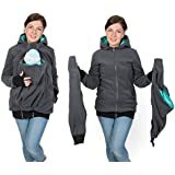 3in1 Maternity Polar Fleece Hoodie for Baby Carriers Graphite/teal