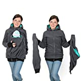 3in1 Maternity Multifunctional Kangaroo Hoodie/jacket for MOM and Baby, Baby Carrying Hoodie (4XL/5XL US 18/20)