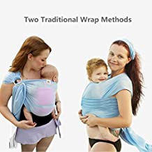 Summer Baby Sling,Water Baby Body Wrap Carrier for Mom and Dad,Boys and Girls,Blue