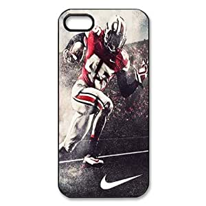 Sports Just Do It Design 8 NCAA Ohio State Pro Combat Football Print Black Case With Hard Shell Cover for Apple iPhone 5