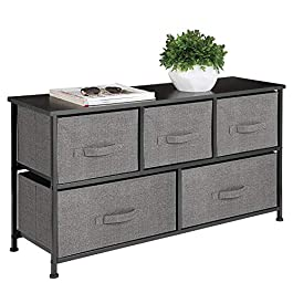 mDesign Extra Wide Dresser Storage Tower – S...