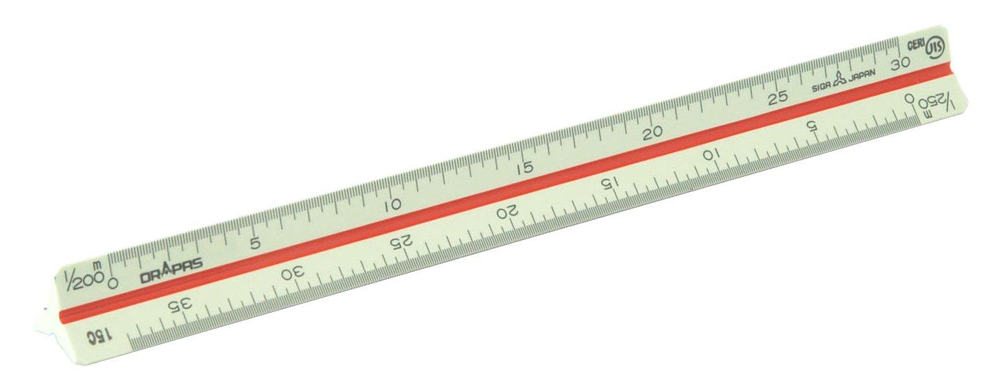 Scala triangolo Dorapasu geometra immobiliare per la tasca in plastica 15 centimetri 1/250 16152 (Giappone import / Il pacchetto e il manuale sono scritte in giapponese)