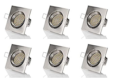 Sweet Led Set 6 X Flache Einbaustrahler Led 230v 3 5w Ultra Flach