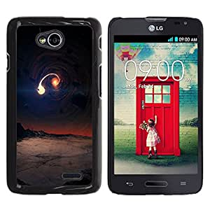 Paccase / SLIM PC / Aliminium Casa Carcasa Funda Case Cover para - Popular Universe Alien Planet Art Galaxy Collision - LG Optimus L70 / LS620 / D325 / MS323