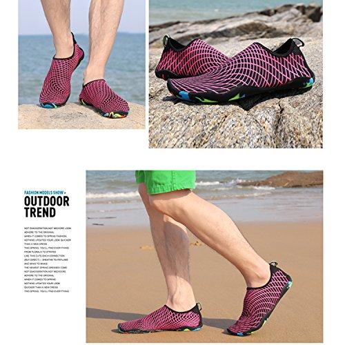 Unisexe Séchage Homme SAGUARO® Nager Respirant Antidérapant Aquatiques Surf Chaussettes Femme de Chaussures Rose Rapide Plage Eté wICCUqdx