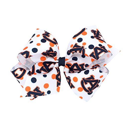 (Wee Ones King Size NCAA Collegiate Print Bow, Auburn University)