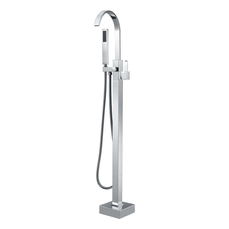 Artiqua Freestanding Tub Filler Bathtub Faucet Chrome Floor Mounted