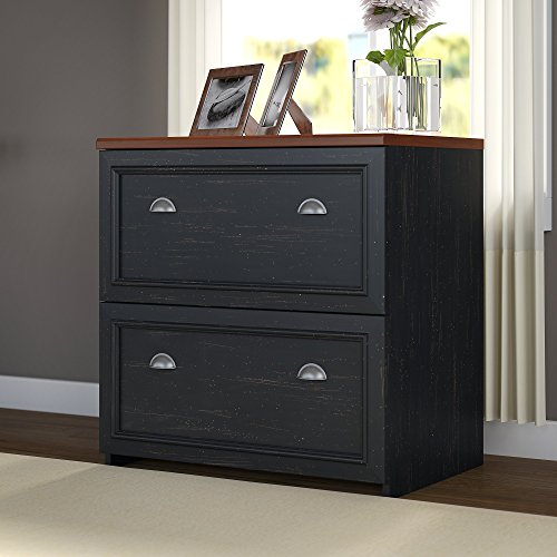 Fairview Lateral File Cabinet in Antique Black
