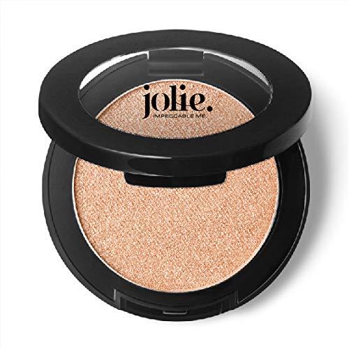 Jolie Silky Molten Pressed Powder Eyeshadow, Ultra Blendable Metallic Shimmery Finish – Golden Vanilla