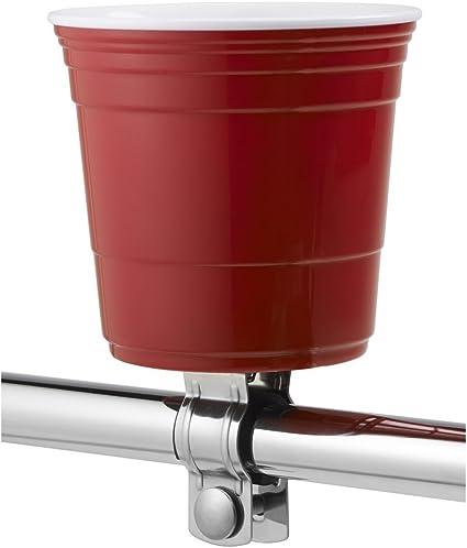 Red Cup Living Handlebar Mount 22.2mm//31.8mm Bicycle Drink Holder 18-32oz Bottle