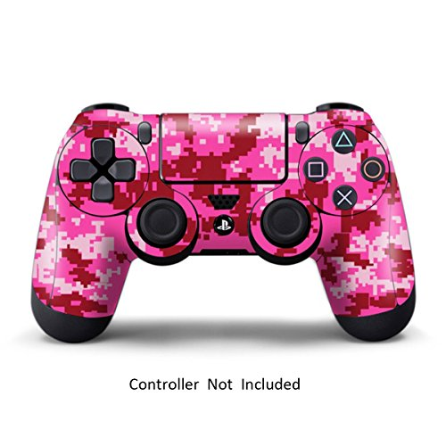 PS4 Controller Designer Skin for Sony PlayStation 4 DualShock Wireless Controller - Digicamo Pink