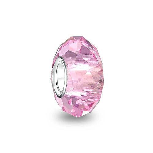 charm pandora vetro murano rosa