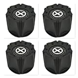 4 Pack American Racing ATX 1342106018 1342100011 1066K98 Black Wheel Center Cap