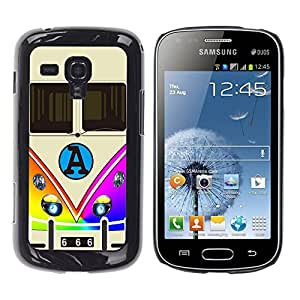 Dragon Case - FOR Samsung Galaxy S Duos S7562 - Stay upbeat - Caja protectora de pl??stico duro de la cubierta Dise?¡Ào Slim Fit