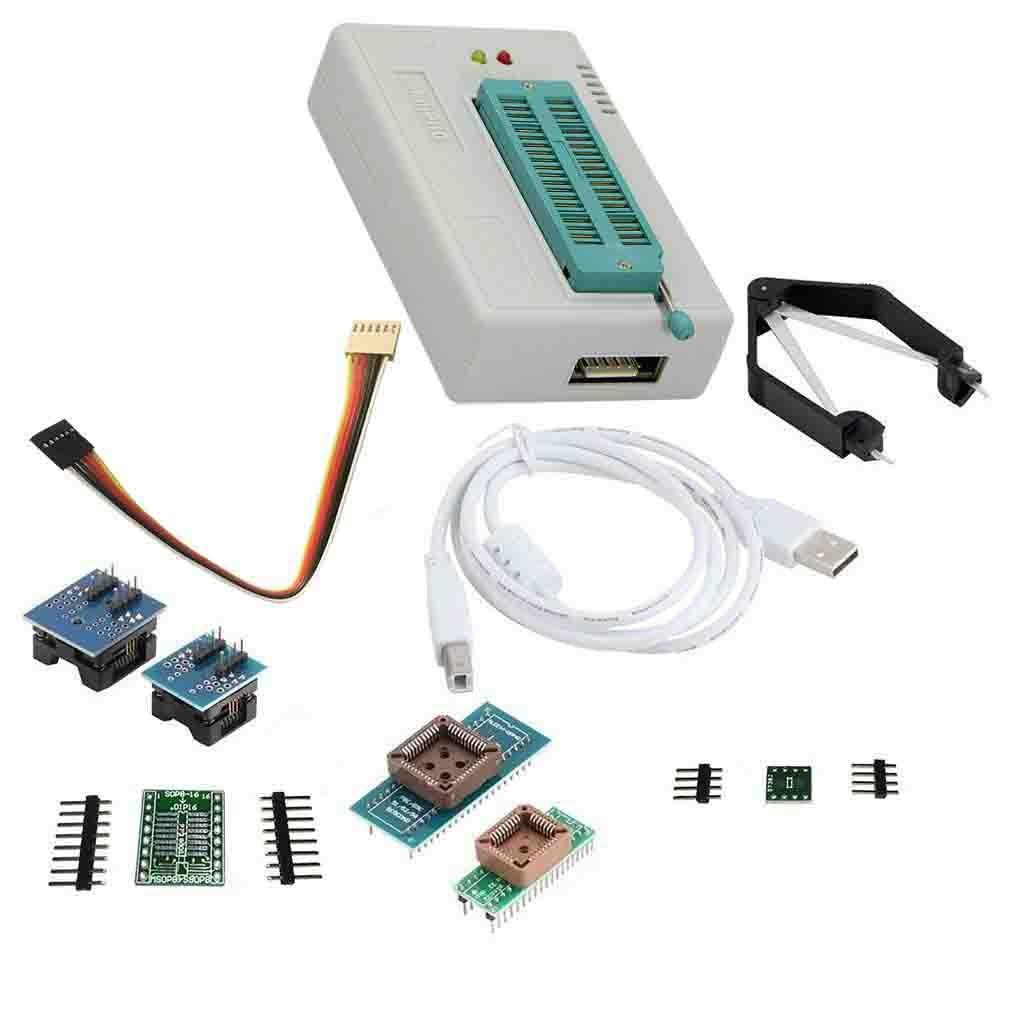 LAQIYA TL866Ⅱ Plus Programmer USB EPROM Flash BIOS Programmable Logic Circuits 6 Adapters Socket Extractor for 15000 IC by Laqiya