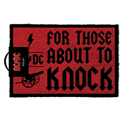 (Ac/dc Doormat For Those About To Knock 40 x 57cm Pyramid International Tappeti)
