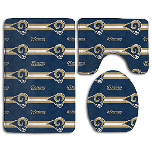 - Sorcerer Custom Colorful Doormat American Football Team Los Angeles Rams Indoor Bathroom Anti-Skid Mats,3 Piece Non-Slip Bathroom Rugs,Non-Slip Mat Bath + Contour + Toilet Lid