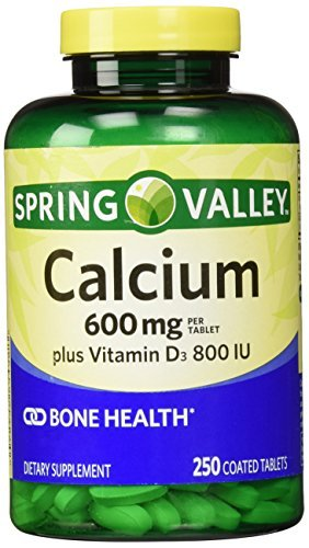 Spring Valley Natural Vitamin D Bone Health Calcium- 600mg and 250 tablets by Spring Valley