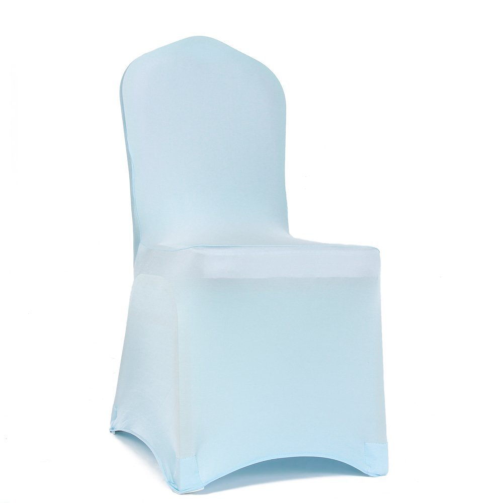 Wedding Durable Trimming Shop Spandex Baby Blue Chair Cover Lycra Slipcover for Banquets Restaurant Parties Dining Decoration With Super Stretchy Long Lasting Elastic 1pc