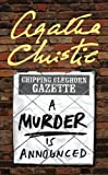 Front cover for the book A Murder Is Announced by Agatha Christie