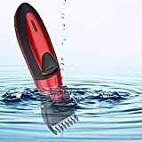 Electric Hair Clipper Professional Rechargeable Hair Trimmer Hair Cutting Machine to Haircut Beard Trimer Waterproof,Red