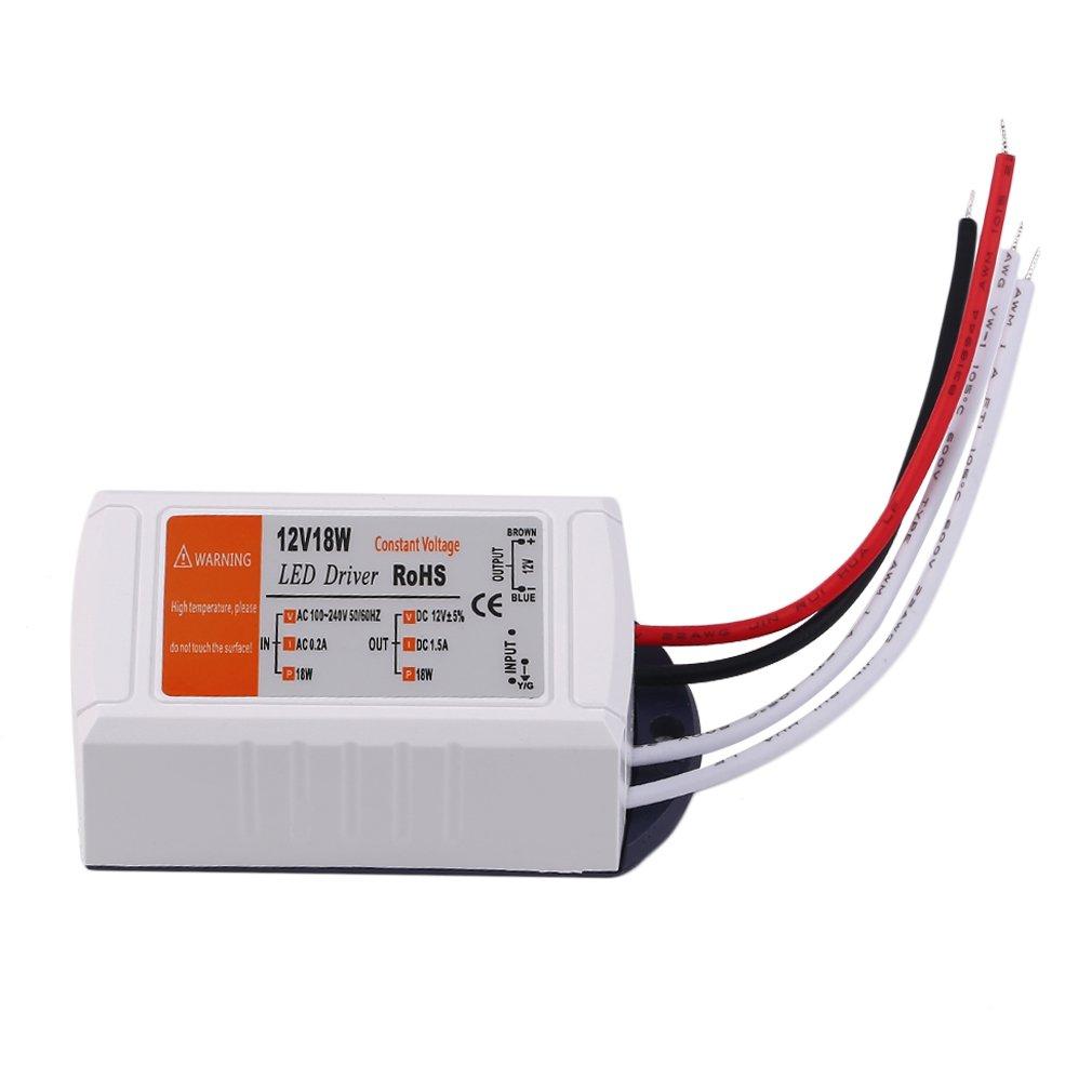18W / 28W / 48W / 72W / 100W Alimentazione DC 12v LED Driver adattatore trasformatore interruttore di uscita 100V-240V per striscia LED (Colore: bianco) FairytaleMM