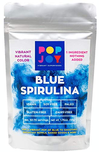 100% Blue SPIRULINA Powder by POPJOY - Vibrant SUPERFOODS