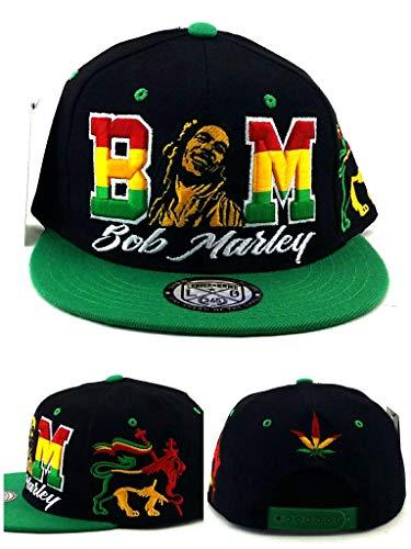 Bob Marley Leader Rasta Lion Black Green Red Yellow Era Snapback Hat Cap