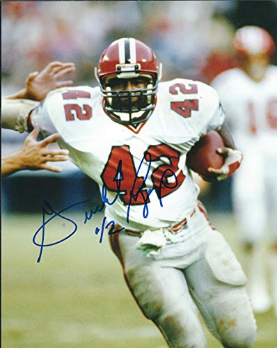 - Autographed Gerald Riggs 8x10 Atlanta Falcons Photo.