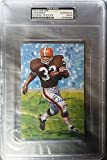 football cards rare - Rare Jim Brown Signed Goal Line Art Card~Football Hof Auto~Series One~ - PSA/DNA Authentic