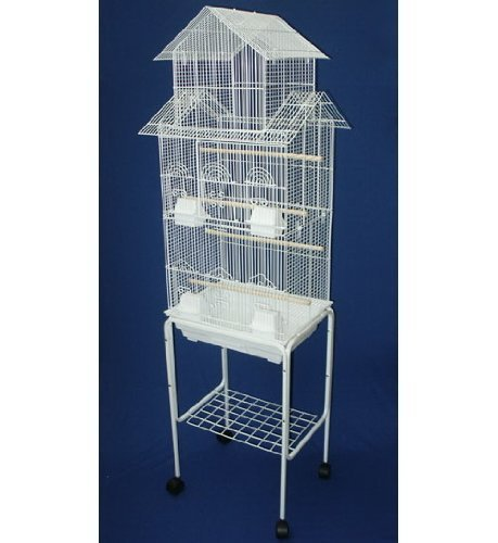 Large Tall Pagoda House Canary Parakeet Cockatiel LoveBird Finch Bird Cage With Stand --18