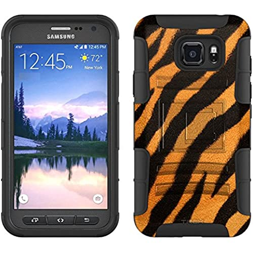Samsung Galaxy S7 Active Armor Hybrid Case Brown Black Zebra 2 Piece Case with Holster for Samsung Galaxy S7 Active Sales
