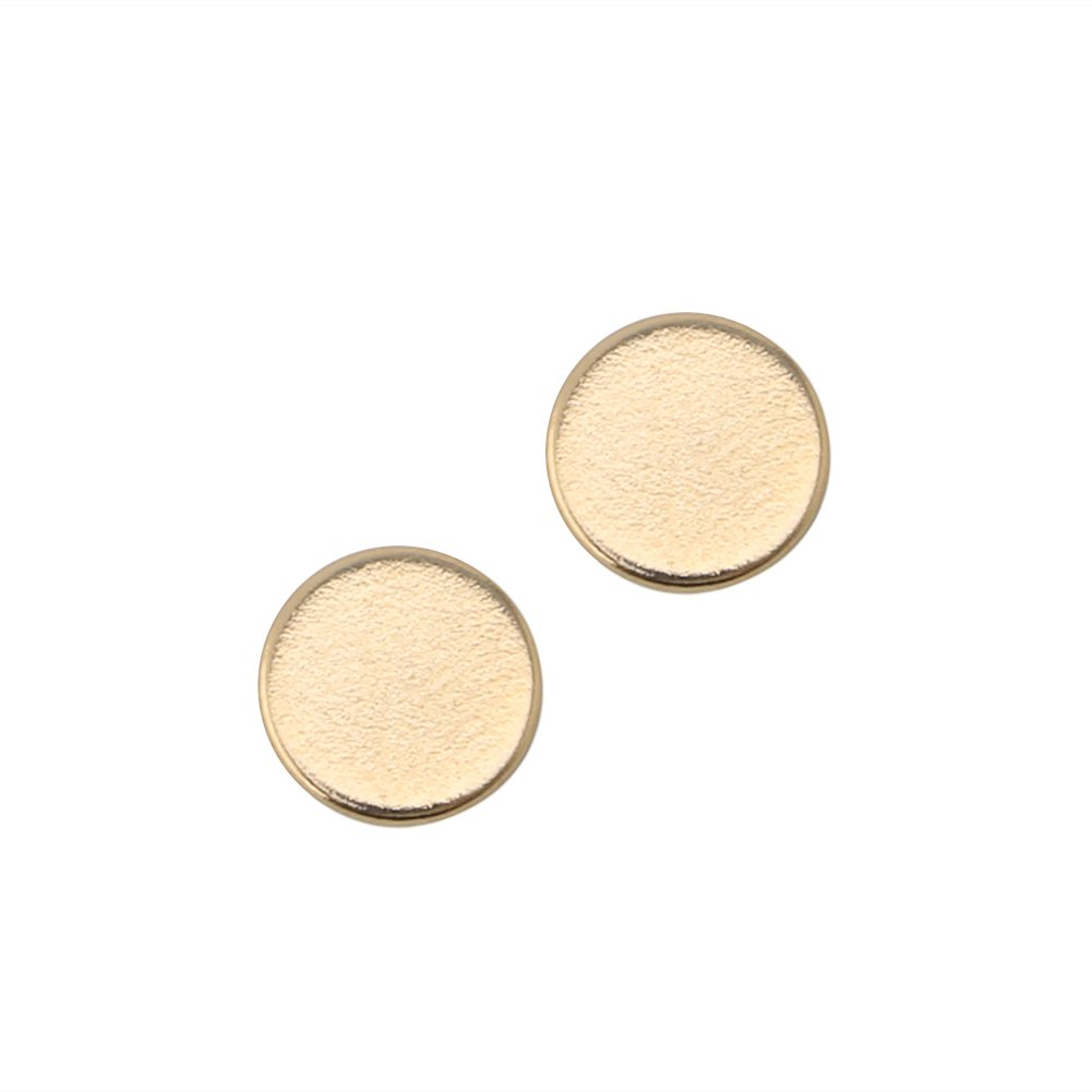 OHTOP 1Pair Weight Loss Healthy Stimulating Acupoints Stud Magnetic Therapy Earrings(Gold,without hole) by OHTOP (Image #5)