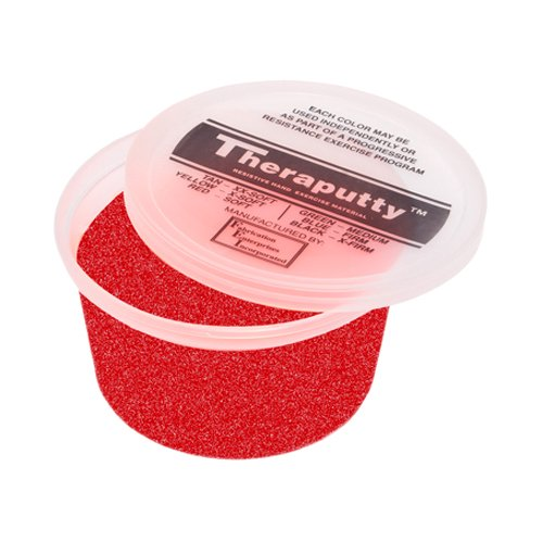 CanDo TheraPutty Standard Exercise Putty, Red: Soft, 50 lb